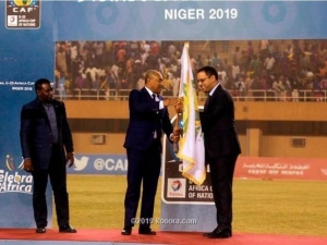 Mauritania FA chief Yahya receives symbolic flag to host next U20 Africa Cup of Nations