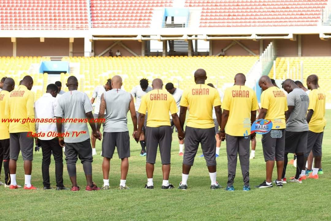 PHOTOS: Black Stars hold maiden training ahead of Kenya clash