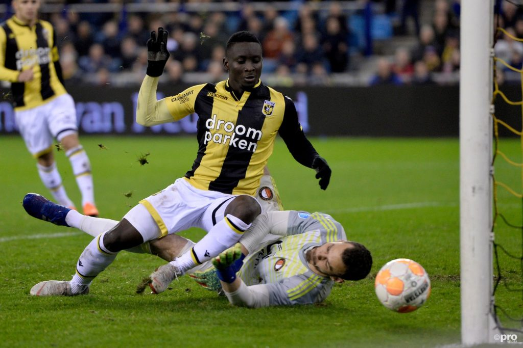 Dauda Mohammed snatches point for Vitesse Arnhem against Feyenoord in Dutch Eredivisie