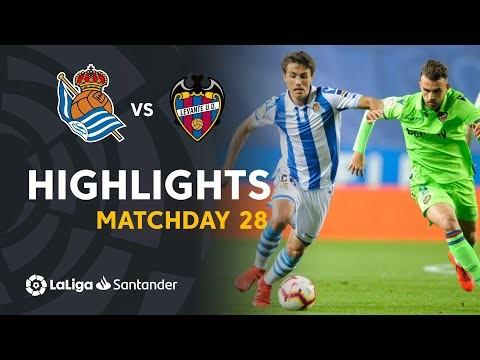 Highlights Real Sociedad vs Levante UD (1-1)
