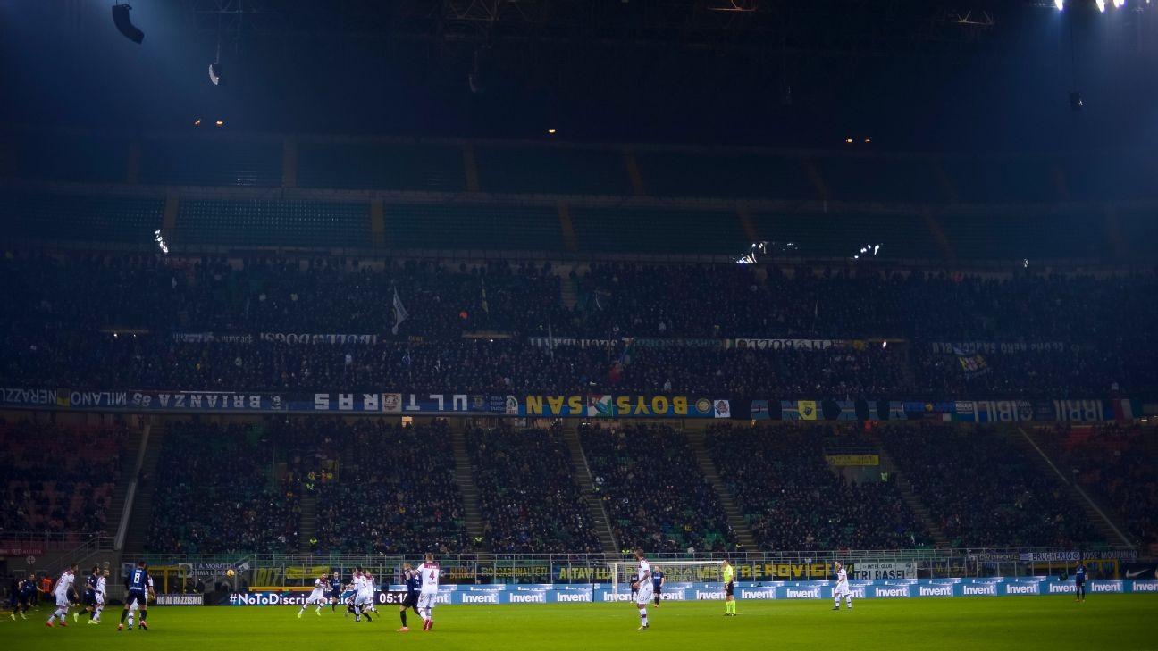 Inter get suspended sentence for racist chants against Milan\'s Ivorian midfielder Kessie