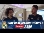 Cartoons or documentaries? | How Real Madrid players travel on the Emirates A380!