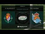 Calentamiento R. Valladolid CF vs Real Sociedad