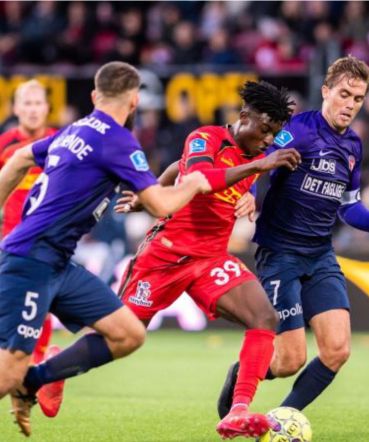 Kudus Mohammed climbs off bench to hit target for FC Nordsjaelland against FC FC Midtjylland