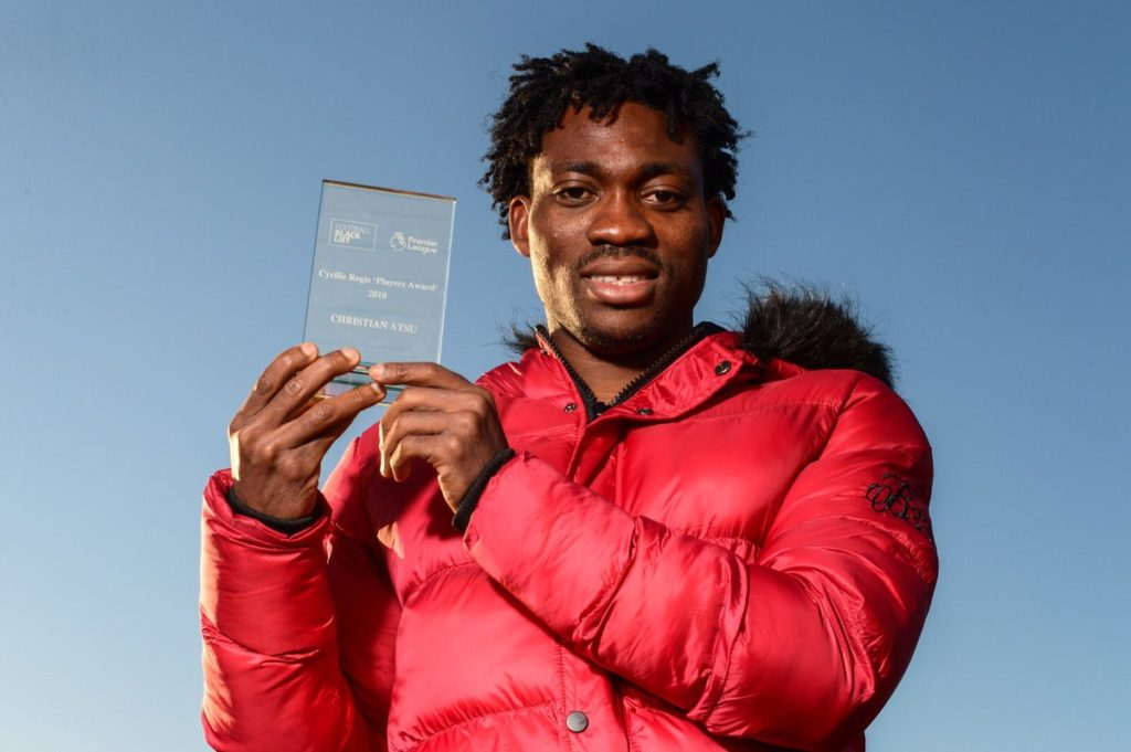 Black Stars forward Christian Atsu receives Cyrille Regis Players Award for philanthropic works