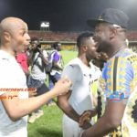 Claims of a rift between between Andre Ayew and Asamoah Gyan banished with hearty chat between duo