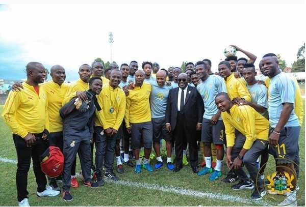 Ghana president Akufo Addo tasks Black Stars to win 2019 AFCON after topping Group