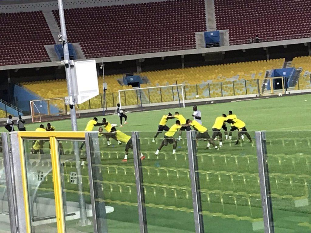 Black Stars train under floodlights on Wednesday night- Kwadwo Asamoah and Caleb Ekuban join squad