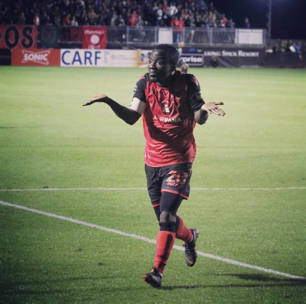 Solomon Asante scores again as in-form Phoenix Rising record 13th consecutive victories