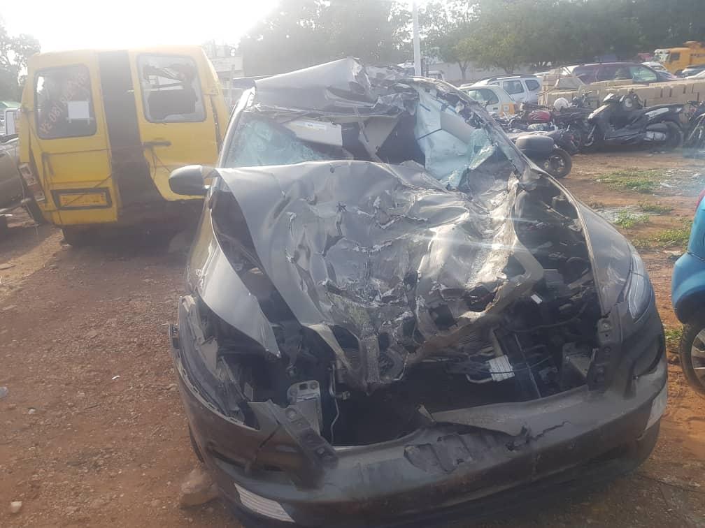New Edubiase United vice president Alex Ackumey narrowly escapes death in horrific car crash