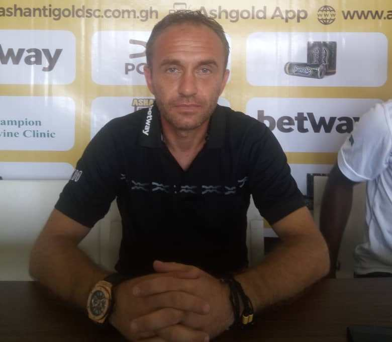 AshantiGold head coach Svetislav Tanasijevic re-assigned to youth team
