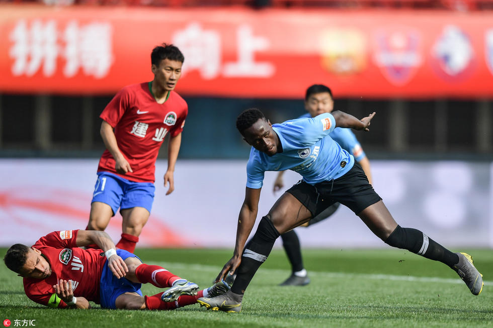 Emmanuel Boateng set sights on scoring more goals for Dalian Yifang