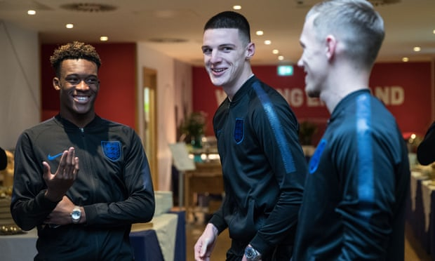 BIZARRE: Check out how Raheem Sterling welcomes Hudson-Odoi to England squad
