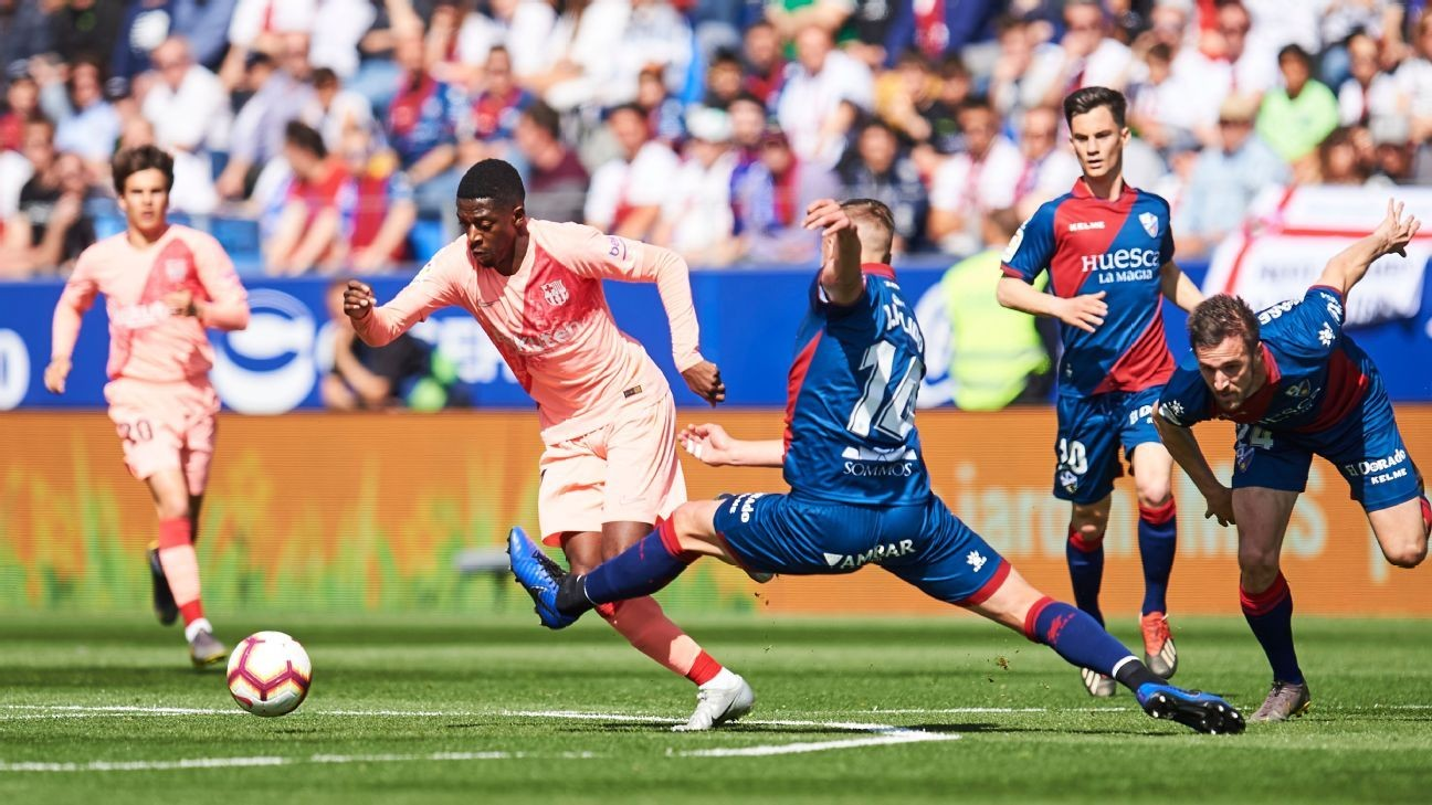 Barcelona held to goalless draw at Huesca as Messi, Suarez and stars rested