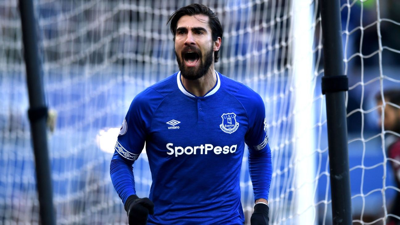 Everton's Andre Gomes charged with violent conduct, could face three-match ban