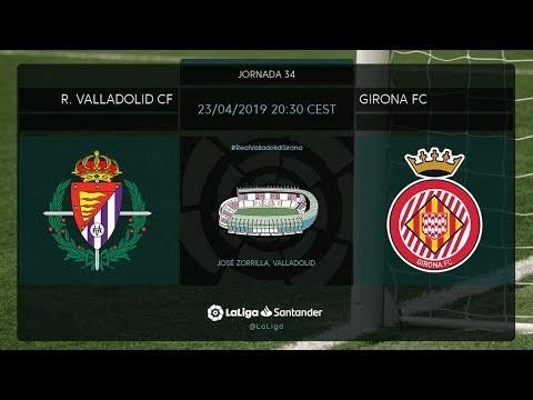 Calentamiento R. Valladolid Cf vs Girona FC