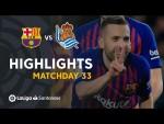 Highlights FC Barcelona vs Real Sociedad (2-1)