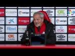 Rueda de prensa de Iriondo tras el RCD Mallorca vs CF Rayo (2-0)