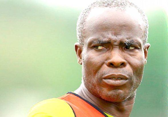 Berekum Chelsea coach Randolf Armah with his players performance in defeat to Kotoko