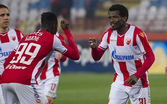 Red Star Belgrade forward Richmond Boakye-Yiadom bags brace in Serbia Superliga play-off opener