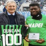 Ghana midfielder Alfred Duncan proud of Sassuolo after clocking century of Serie A matches