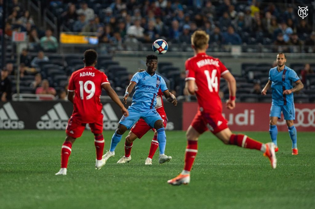 New York City FC midfielder Ebenezer Ofori delighted with victory over Chicago Fire in MLS