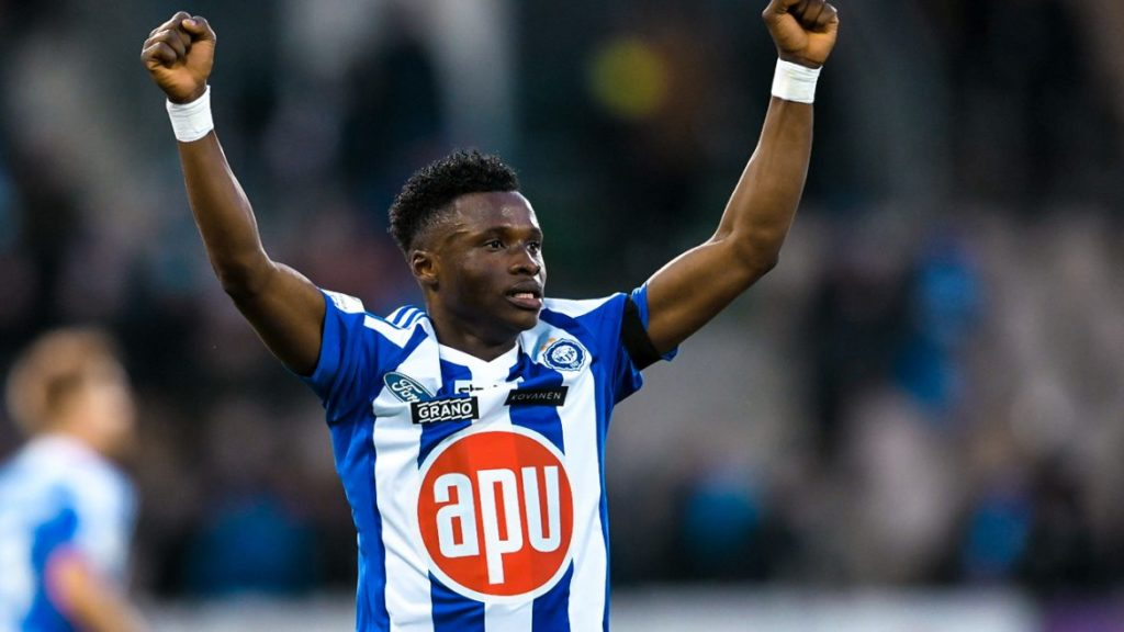 VIDEO: Watch substitute Evans Mensah score brace for HJK in league opener