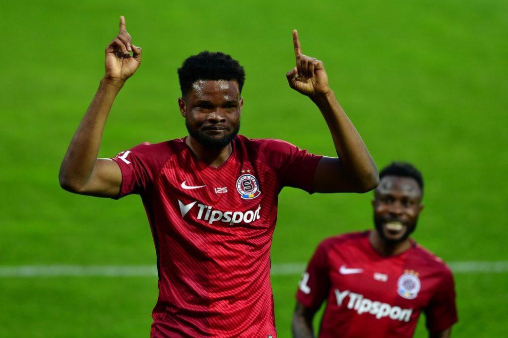 Ghana forward Benjamin Tetteh scores in Sparta Prague home win