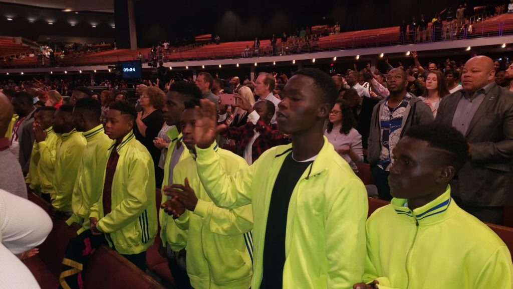 Bechem U17 worship at TD Jakes' church in Dallas after postponed fixture