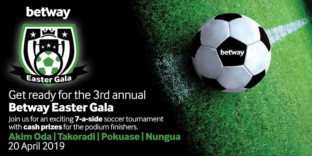 32 teams set to participate in Betway Easter Gala 2019