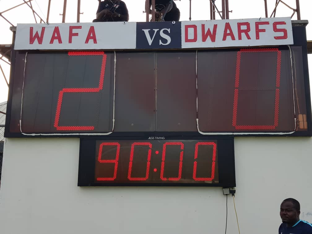 Special Competition: WAFA SC 2-0 Ebusua Dwarfs- Pair of second half goals send Academy Boys top of table