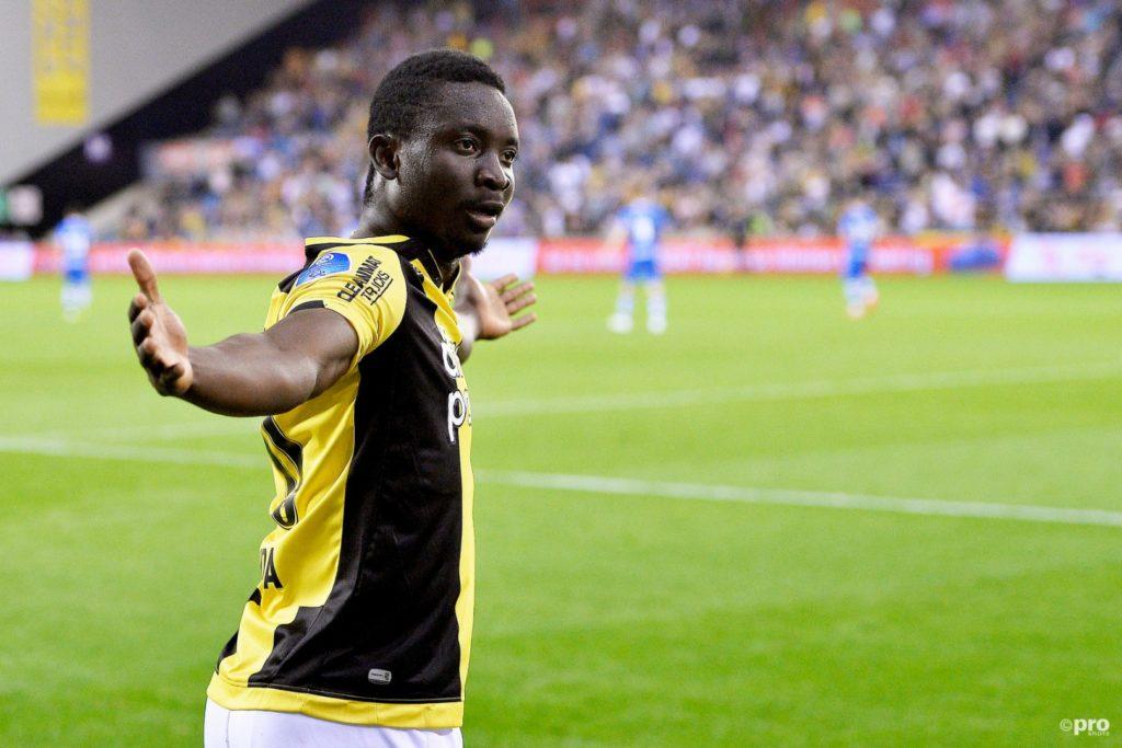 Dauda Mohammed's final game for Vitesse Arnhem ends in tears; sees RED in Utrecht defeat