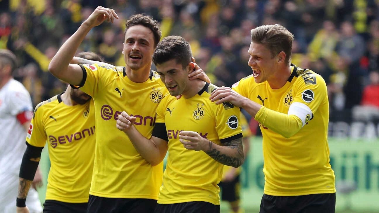 Pulisic scores in final home game for Dortmund before Chelsea move