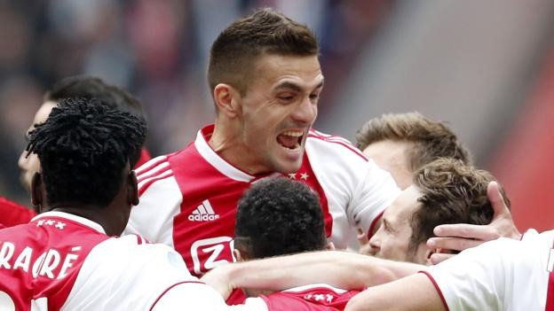 Ajax 4-1 Utrecht: Hosts on brink of Eredivisie title
