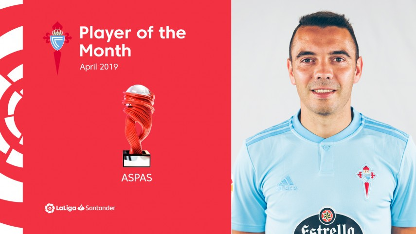 Iago Aspas named LaLiga Santander Player of the Month for April