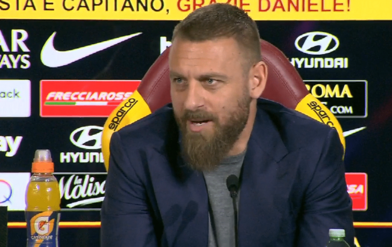 De Rossi tells fans: I won't return to Roma