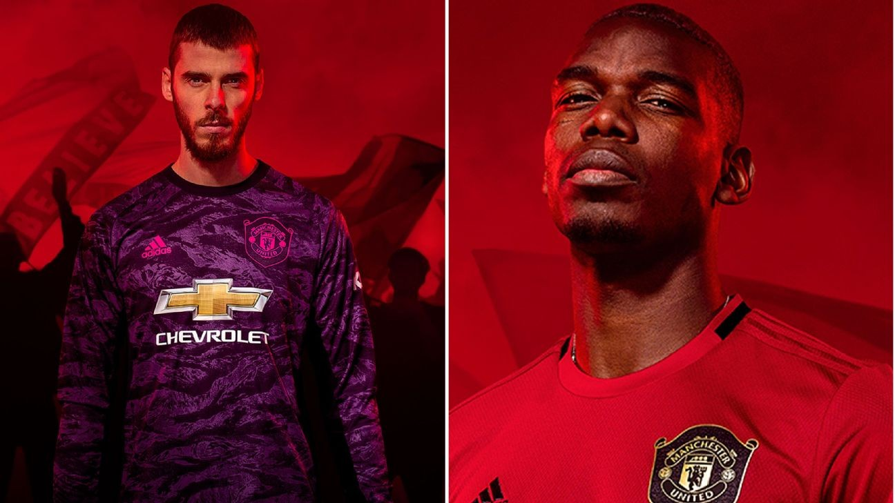 Manchester United's 2019-20 kit: Pogba, De Gea model 1999-inspired jerseys