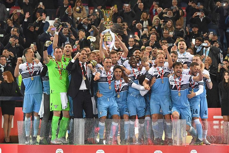 LAZIO WIN THEIR SEVENTH TIM CUP