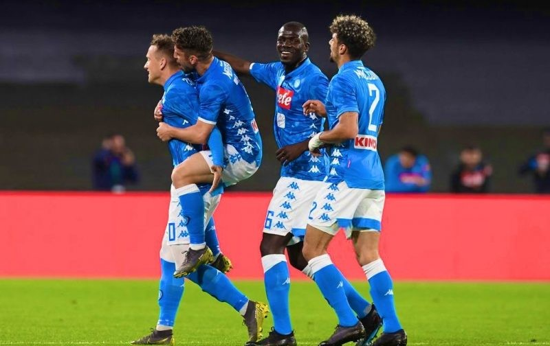 Napoli rout Inter to keep Champions League race wide open