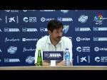 Rueda de prensa de Víctor Sánchez tras el Málaga CF vs Real Zaragoza (3-1)