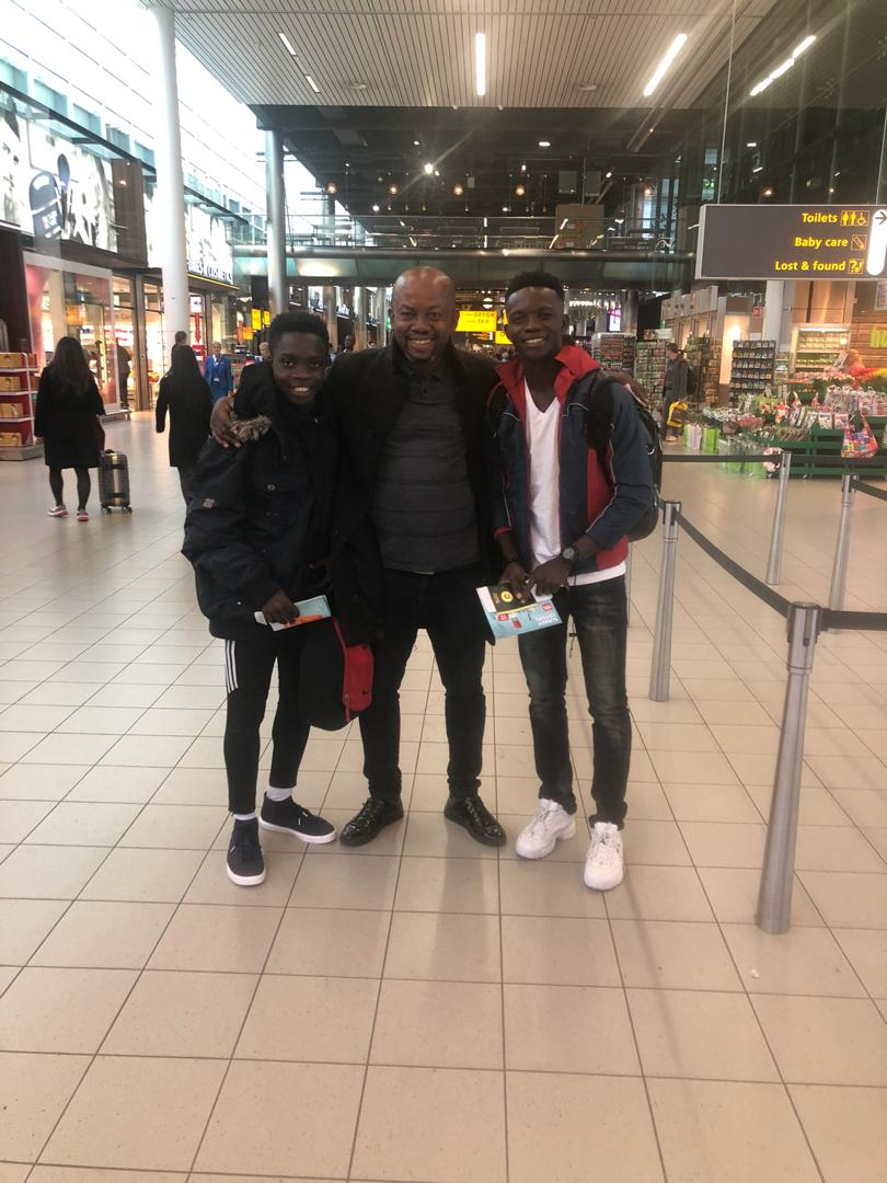Asamoah Gyan Academy duo arrive in Italy for Bologna trial