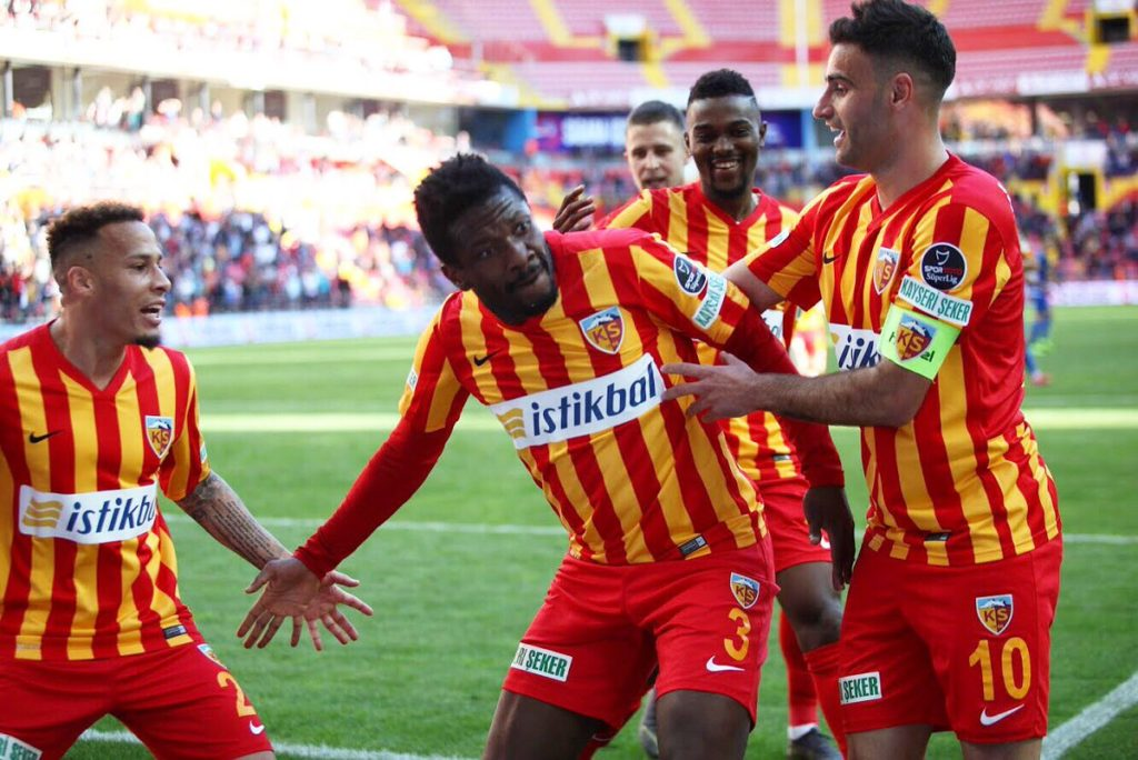 Kayserispor president hints at new deal on Asamoah Gyan's expiring contract, Kayserispor to boost squad with major purchases