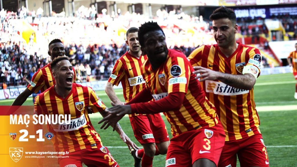 VIDEO: Watch super-sub Asamoah Gyan's brace for Kayserispor against Kasimpasa