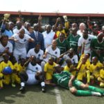 Stephen Appiah among African football legends who thrill fans for Lagos governor