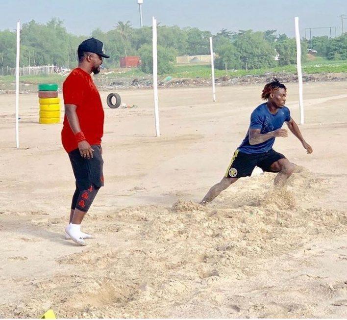 Sylvain Distin motivates AFCON-bound Christian Atsu to continue training hard