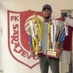 Ghanaian defender Joachim Adukor wins the double with FK Sarajevo in Bosnia
