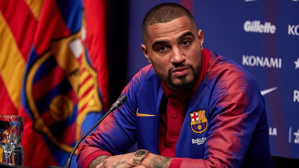 a3333449124 Barcelona bid Kevin Prince Boateng farewell as he returns to Sassuolo in  the summer