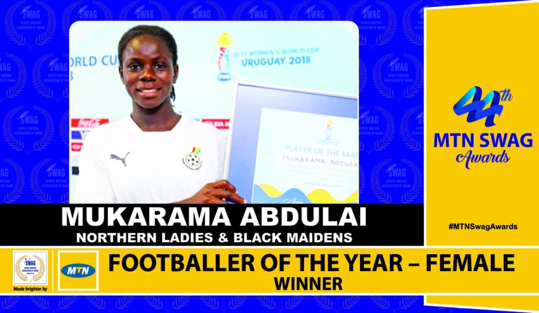 Mukaram Abdulai: Northern Ladies star crowned SWAG Women's Footballer of the Year