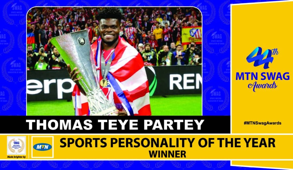 Thomas Partey thanks SWAG and fans for Award