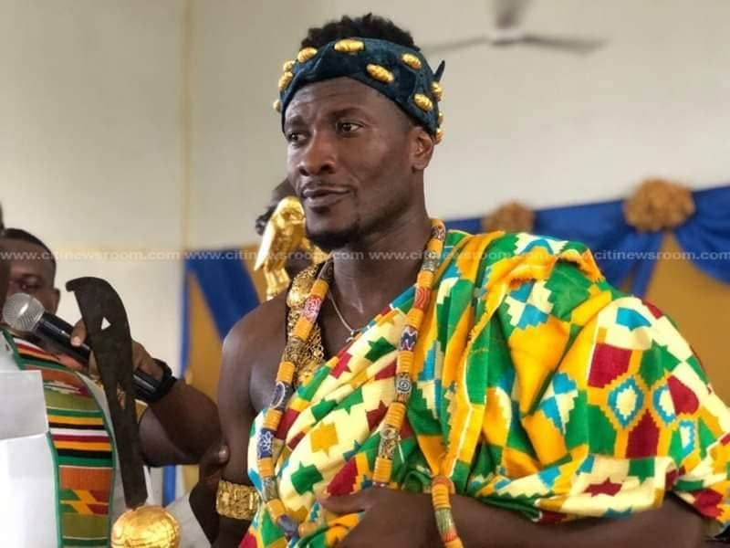 PHOTOS: Black Stars General Captain Asamoah Gyan installed chief in Hohoe
